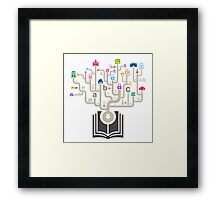 House the book Framed Print