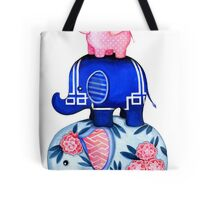 Fabric Elephant Stack Tote Bag