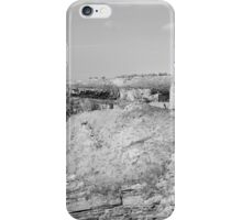 black and white ballybunion castle ruins iPhone Case/Skin