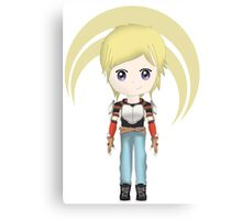 Chibi Jaune Arc Canvas Print