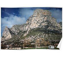 Monte Gallo behind Sferra Cavallo caravan Park Palermo 19840324 0030  Poster