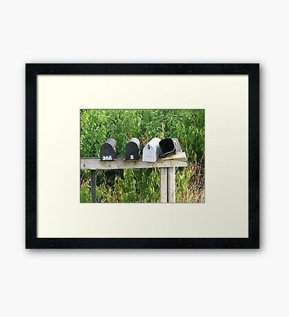 Empty Mailboxes Framed Print