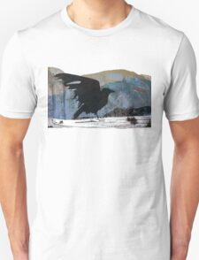Something About Birds: Crow with White Feather Unisex T-Shirt