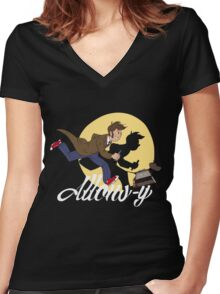 The Adventures of Doctor Who Women's Fitted V-Neck T-Shirt