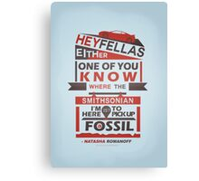 Fossils - Typography Canvas Print