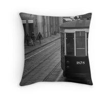 1878 Trolley - Milan, Italy Throw Pillow