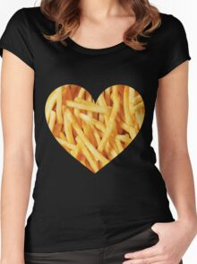 Fries Love Women's Fitted Scoop T-Shirt