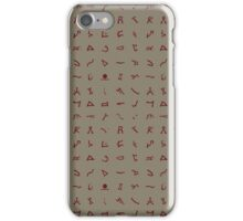 Chevron symbols texture in Champagne Red iPhone Case/Skin