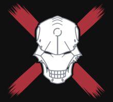 Cyborg Skull w/ Red X Kids Tee