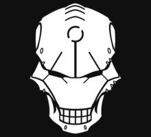 Cyborg Skull in White by vhkolb