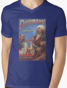 Vintage USSR Ottoman Empire Mens V-Neck T-Shirt