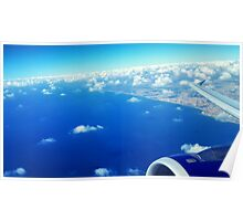 Sky View From The Airplane Window Poster