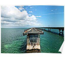 Old Seven Mile Bridge, FL Poster