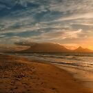 Evening glory with a view of Cape Town  by Johanna26