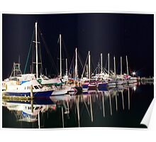 Yachts on the Water  Poster