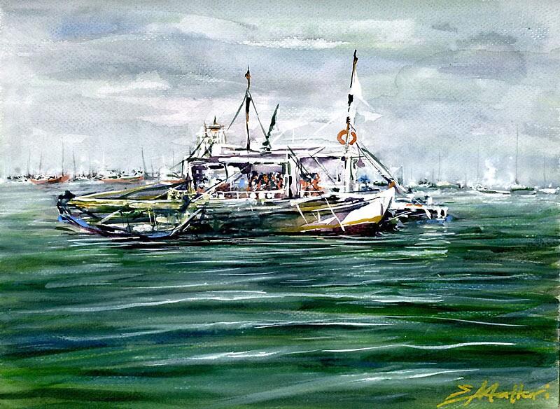 North Harbor (Plein Air) by Erwin Mallari