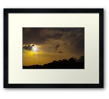 Sunset Radiance Framed Print