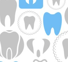 Tooth a background Sticker