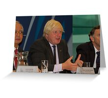 Boris Johnson at City Hall Greeting Card