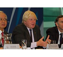 Boris Johnson at City Hall Photographic Print
