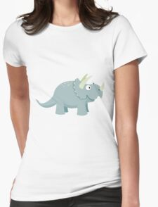 Trikey the Triceratops Womens Fitted T-Shirt