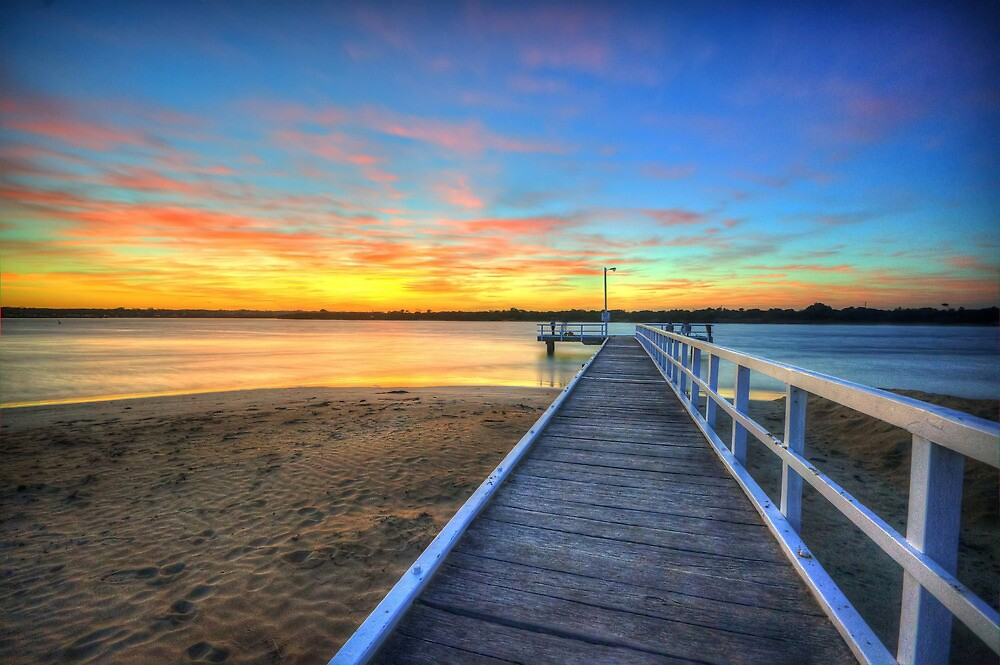 Barwon Heads Pier Sunrise by Danielle  Miner