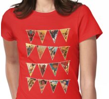 vintage circus bunting flags polks dots Womens Fitted T-Shirt