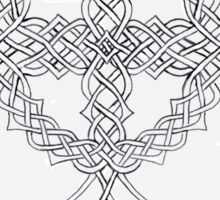 Knotwork Celtic Cross Sticker