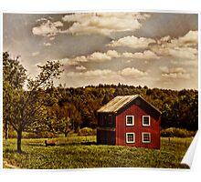 Long Ago at the Farm Poster