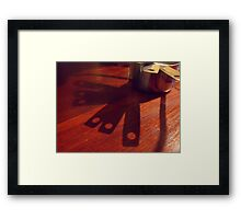 269/365 there are interesting shadow shapes to be found in a kitchen Framed Print