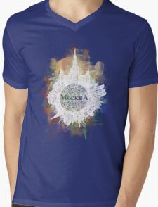 Moscow Mens V-Neck T-Shirt