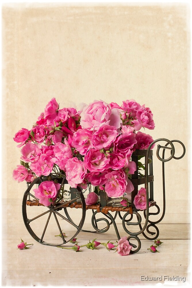 Antique Rose Cart by Edward Fielding