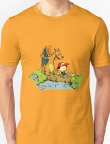 Calvin and Hobbes Pokemon T-Shirt
