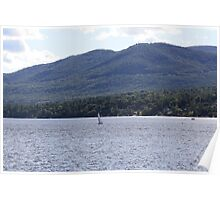 Sailboat on Lake George Poster