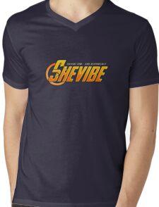 SheVibe Avengers Logo Mens V-Neck T-Shirt
