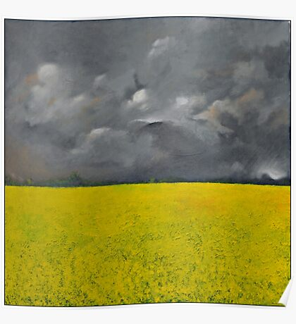 Storm over the Rape Field Poster