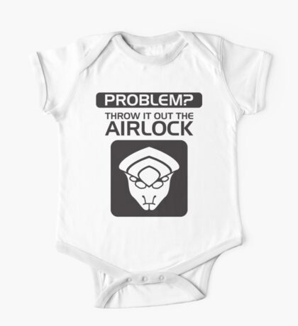 Throw it Out the Airlock in Black One Piece - Short Sleeve
