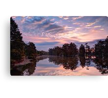 Dawn on Lake Martin HDR Canvas Print