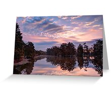 Dawn on Lake Martin HDR Greeting Card