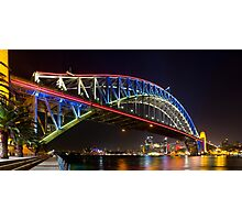 Sydney Harbour Bridge Vivid Lights 2013 #1 Photographic Print