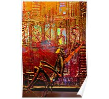 Pedaling on Rodeo Drive Poster
