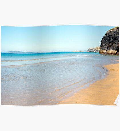blue skies and sea at ballybunion Poster