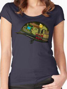 Watchmen - Viet Nam Helmet Women's Fitted Scoop T-Shirt