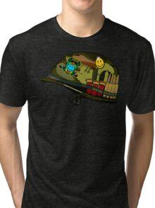 Watchmen - Viet Nam Helmet Tri-blend T-Shirt