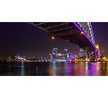 Sydney at Night Vivid 2013 Photographic Print