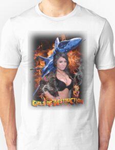 Girls of Destruction with fighter jet shirt T-Shirt