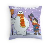 Baymax happy holiday Throw Pillow