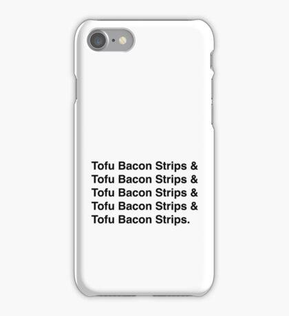 Tofu Bacon Strips iPhone Case/Skin