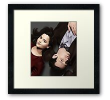 Dr Who and Clara Oswin Oswald Framed Print