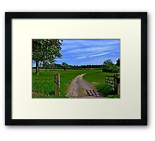 Oxfordshire countryside Framed Print
